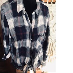 Urban Heritage Blue Plaid Flannel Shirt